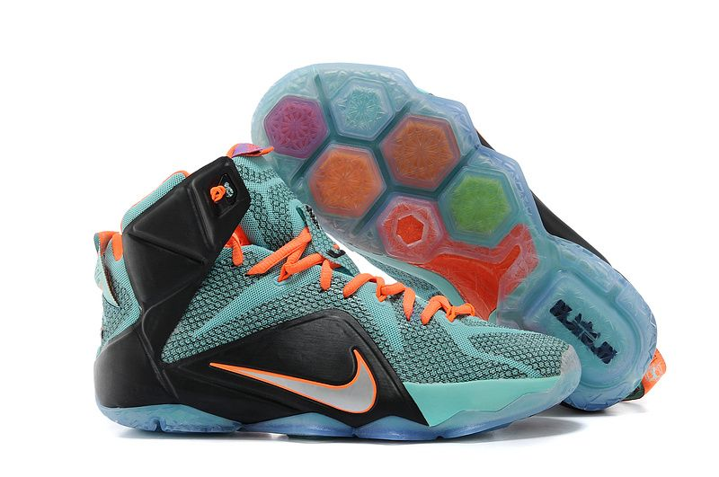 Big Discount  66 OFF Nike LeBron 12 BlackVolt Mens Basketball Shoes