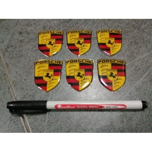 Porsche Quality Gel Embossed Decals/stickers High Quality