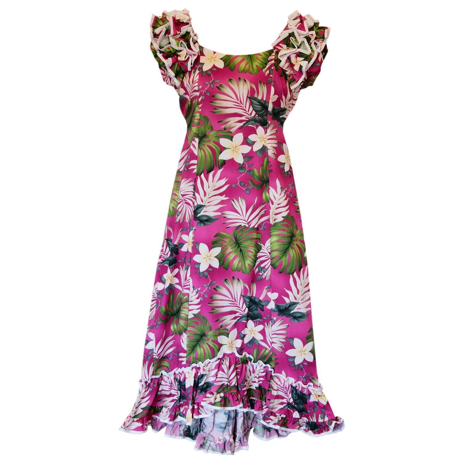 fab05e2486f Excite Pink Hawaiian Meaaloha Muumuu Dress with Sleeves  jesus  sandal   jesussandals  jesussandal  flipflop  palihawaii