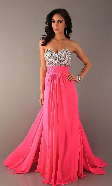 Pink Prom Dresses,Chiffon Prom Dres | Dressy dresses, Pink dress ...
