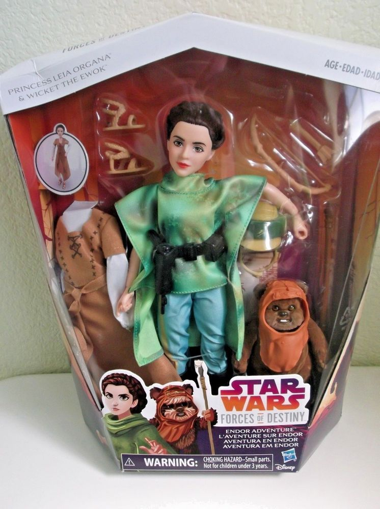 Star Wars Forces Of Destiny Princess Leia /& Wicket Ewok Endor Adventure New