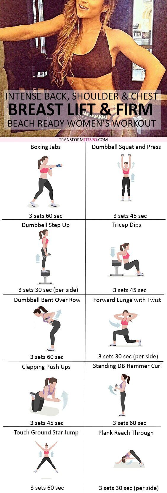 Breast Lift  Firm Workout Intense Chest And Back Circuit -4176
