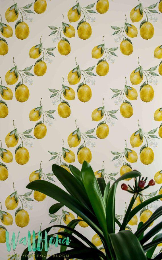 Lemon Wallpaper Removable Wallpaper Lemon Wallpaper Lemon Wall Sticker Lemon Wall Decal Lemon Self Adhesive Wallpaper 112 Removable Wallpaper Bathroom Wallpaper Wallpaper