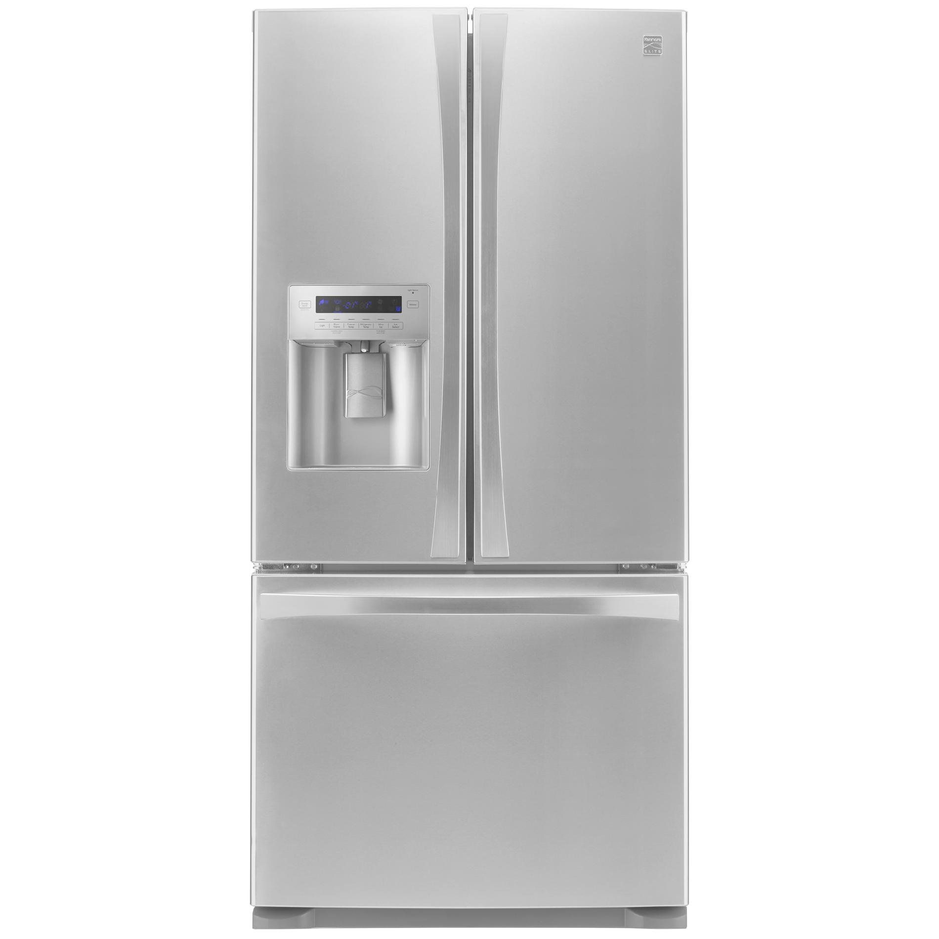 Kenmore Elite 72483 29 9 Cu Ft 4 Door Bottom Freezer Refrigerator W Dispenser Stainless Steel In 2020 Bathroom Organization Diy Fridge French Door Fridge Organization