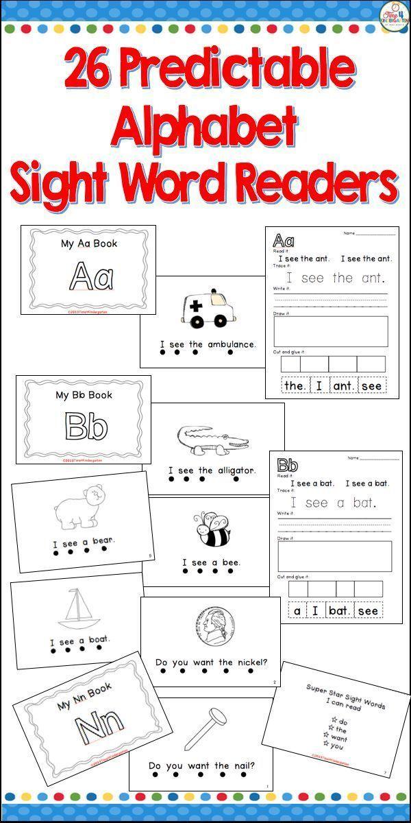Alphabet Sight Word Books Readers BUNDLE   Kind
