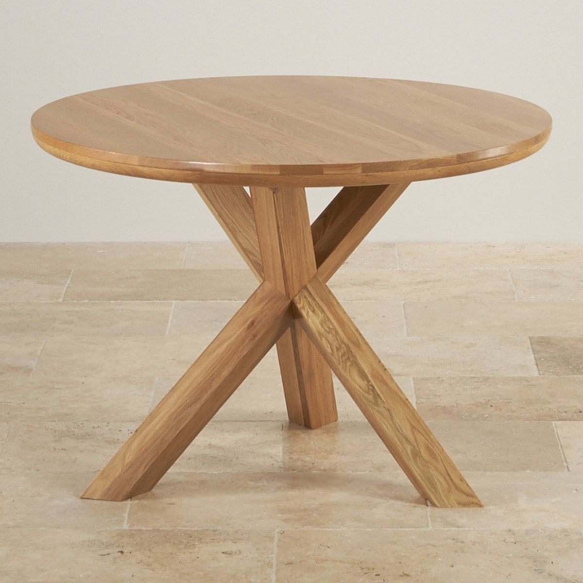 Handmade 9 Solid Natural Oak Dining Tables   9 Seater Round ...