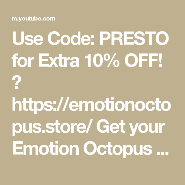 Use Code Presto For Extra 10 Off Https Emotionoctopus Store Get Your Emotion Octopus Here Https Emotionoctopus Store Emotions You Got This Coding