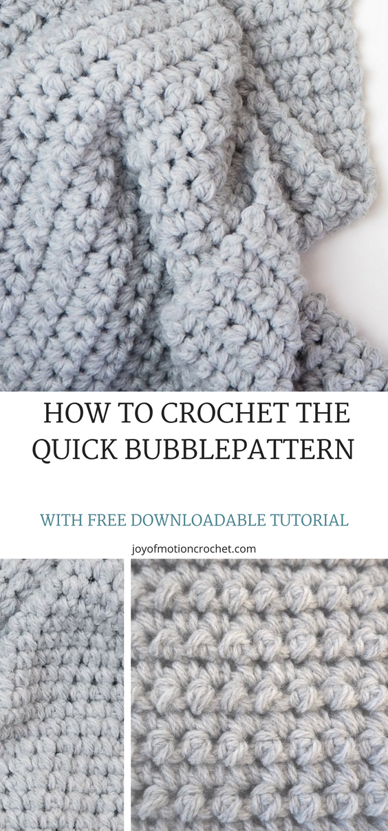 HOW TO Crochet the Quick Bubblepattern | Patrón de ganchillo ...