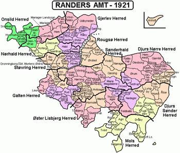 Randers Amt 1921 Dk Pinterest Denmark map and Denmark
