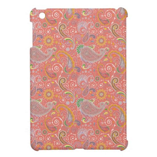 Colorful Retro Paisley iPad Mini Covers