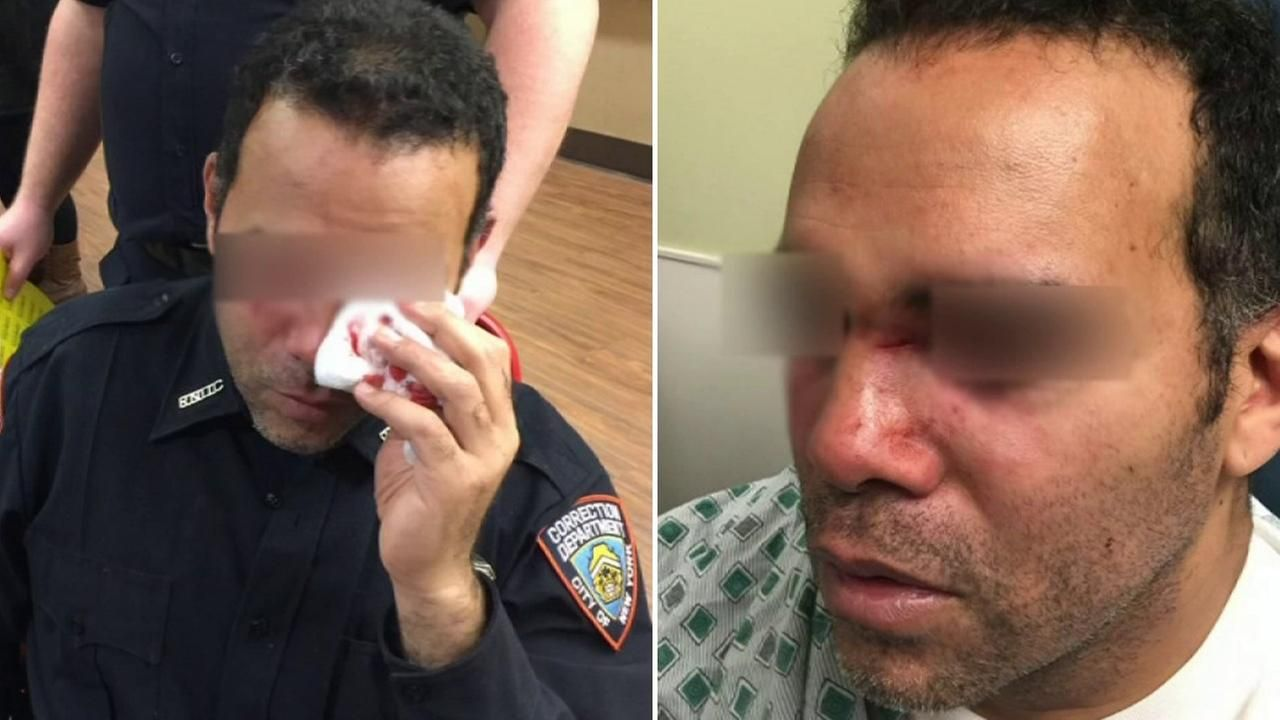 Five correction officers are in the hospital after allegedly getting