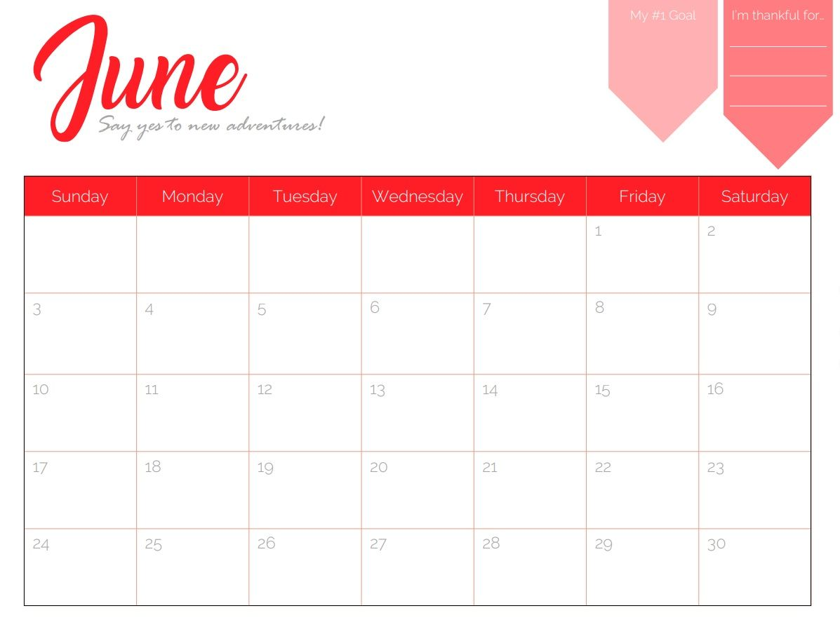 download june 2018 cute calendar maxcalendars pinterest