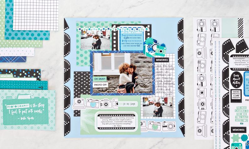 CREATIVE MEMORIES SQUARES #1 BLOCK STICKER SHEET