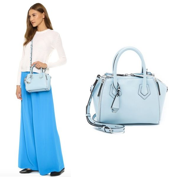 Rebecca Minkoff Micro Perry Satchel In Bleached Blue