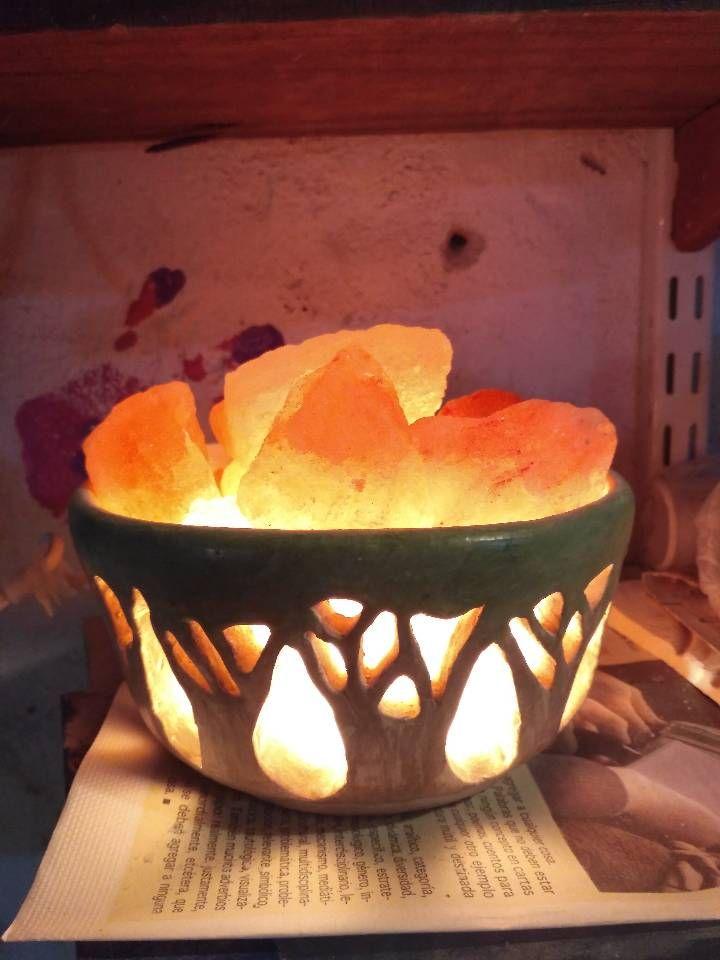 Himalayan Salt Lamp Lampara De Sal Del Himalaya Lampara De Sal Lampara De Sal Del Himalaya Candelabros De Ceramica