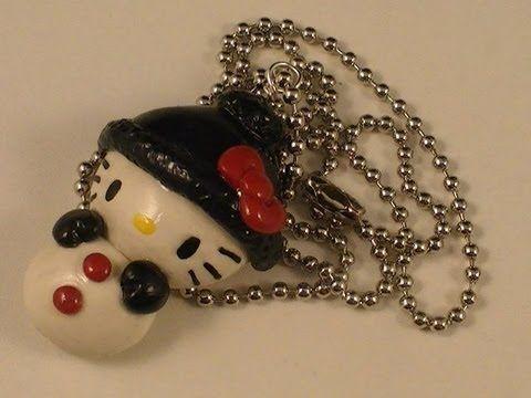 Polymer Clay Hello Kitty Snowman