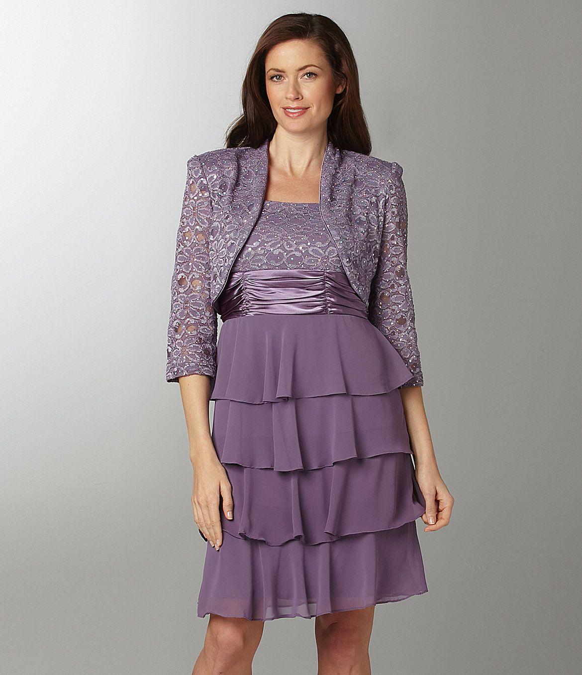 R & M Richards Bolero Jacket Dress | Dillards.com | Food | Pinterest
