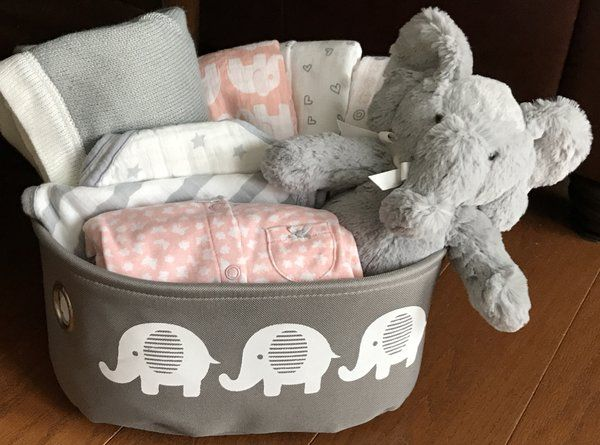 Peaches elephant baby gift basket baby gift baskets by peaches elephant baby gift basket negle Images