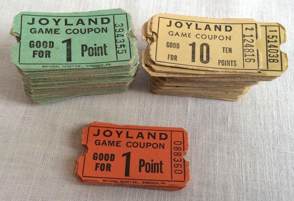 200+ Skeeball Tickets Vintage Defuct Joyland Amusement