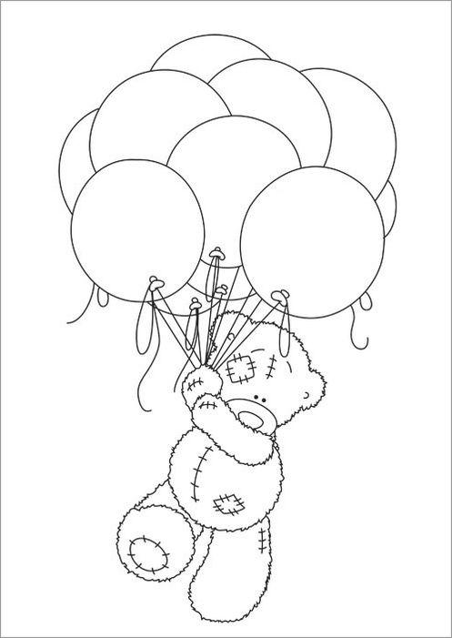osito teddy para colorear - Buscar con Google | Hania | Pinterest ...