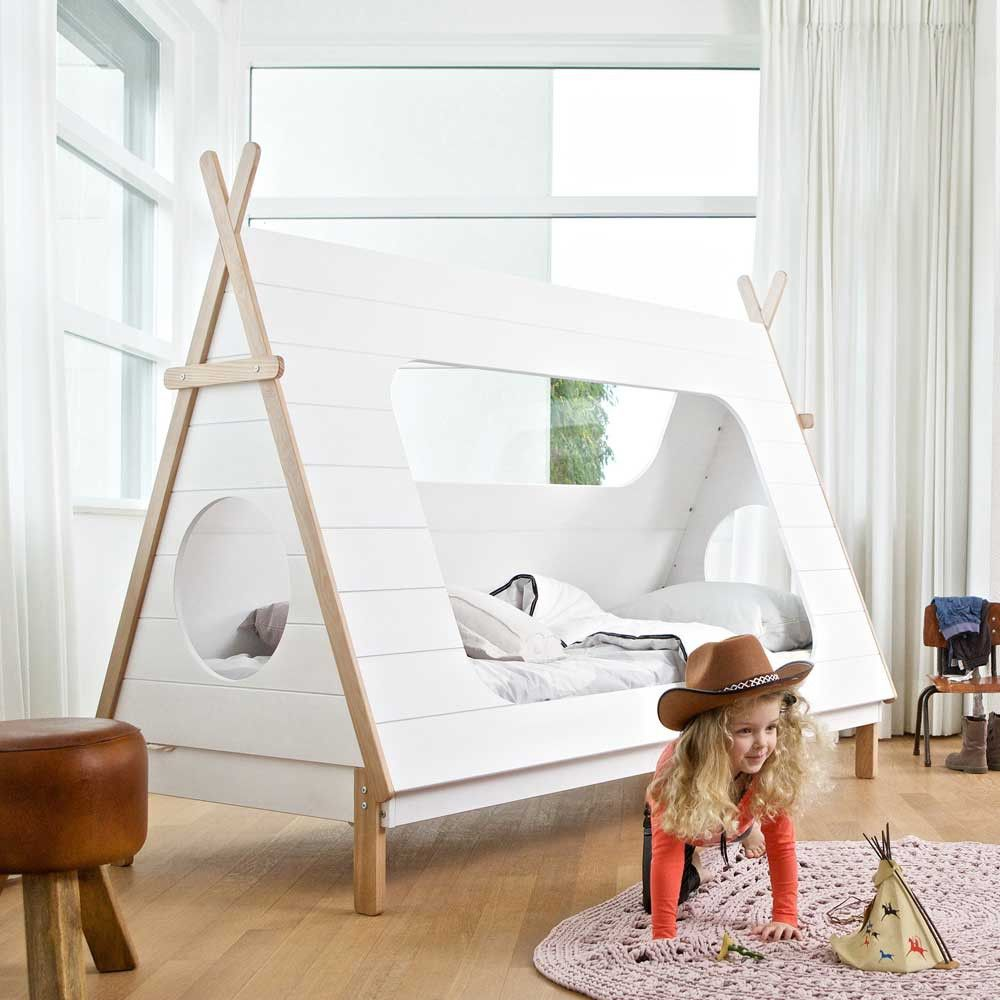 tipi bett lioscas in wei aus kiefer massivholz tolles ungew hnliches indianer. Black Bedroom Furniture Sets. Home Design Ideas