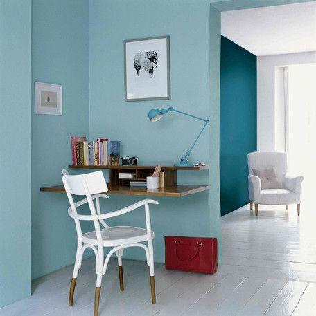 Casas pintadas de azul por dentro
