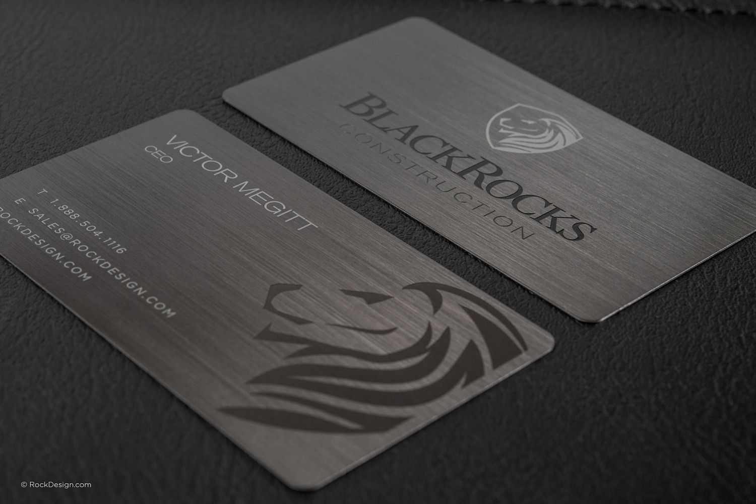 Gunmetal Metal Business Card Design - 12 | BCards | Pinterest ...