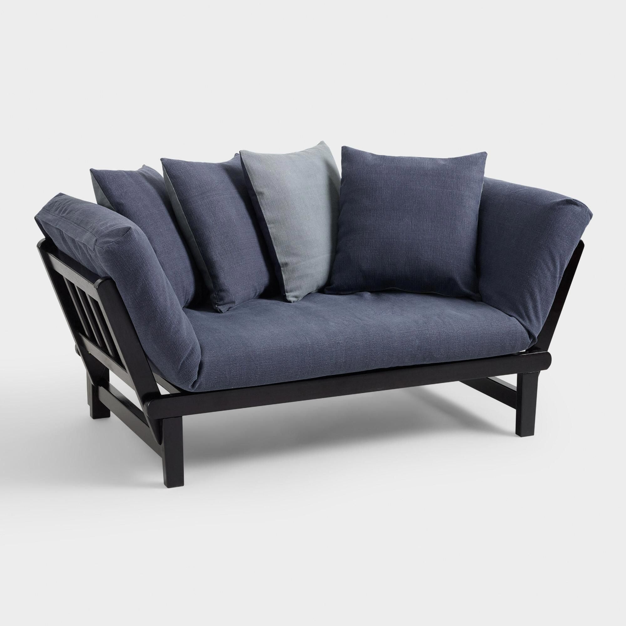 Blue and Gray Studio Day Sofa Slipcover by World Market