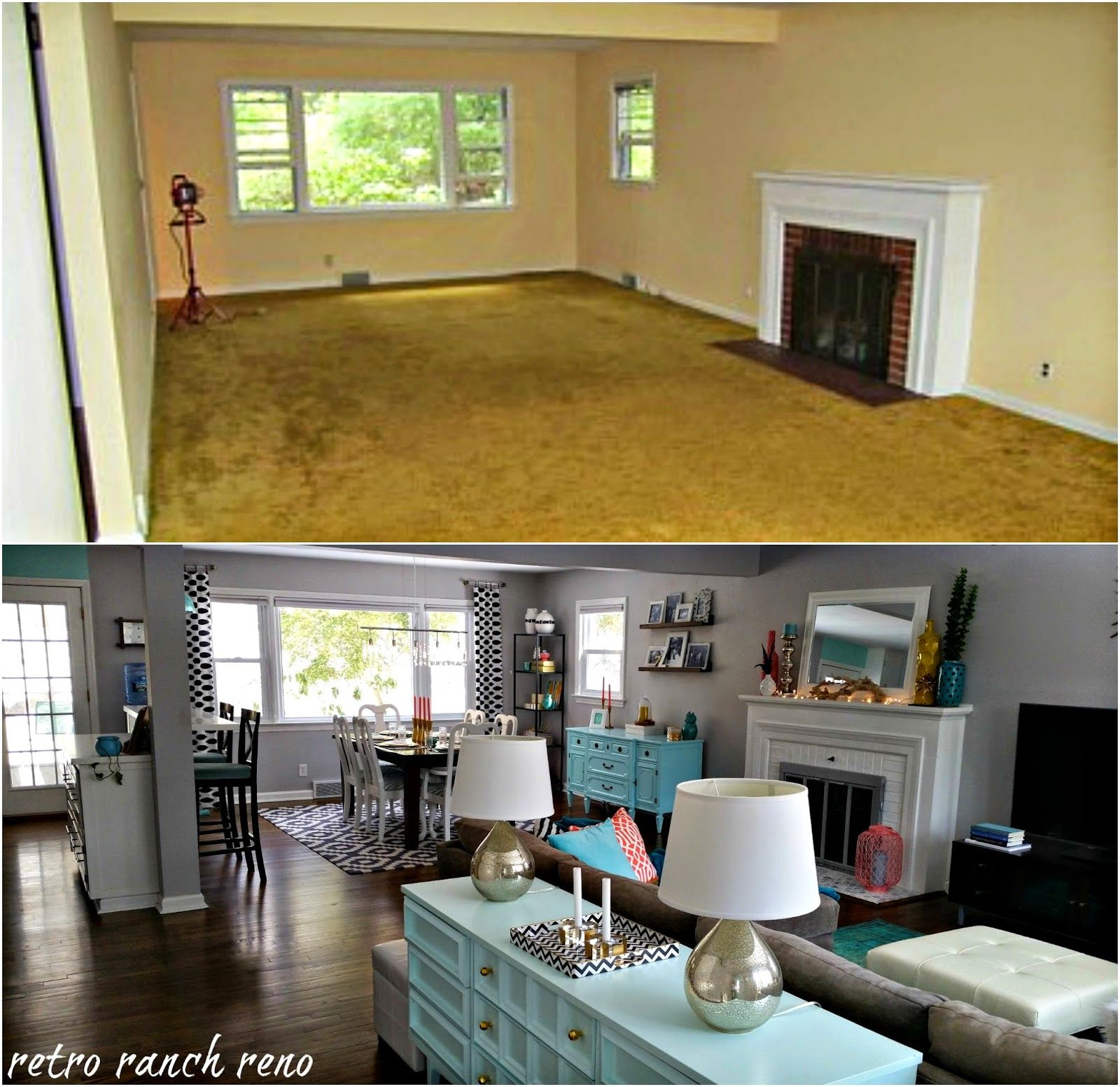 Retro ranch reno our rancher before after the living for Family room renovations