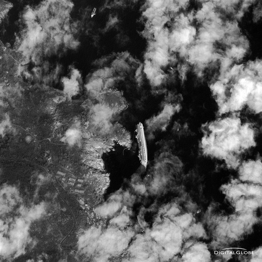 Costa Concordia As Seen From Space Italian Cruises Cruise Ship Concordia