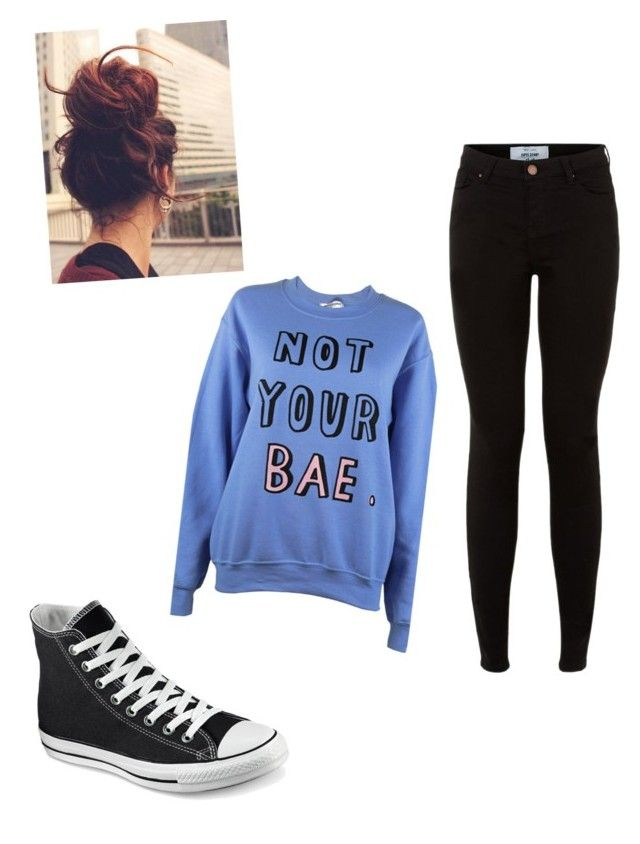 """Untitled #78"" by stywin on Polyvore featuring Adolescent Clothing and Converse"