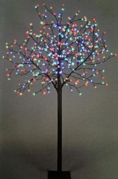 Premier Osaka Multicoloured Cherry Blossom Led Christmas Light Tree Twig Christmas Tree Led Christmas Lights Blossom Trees