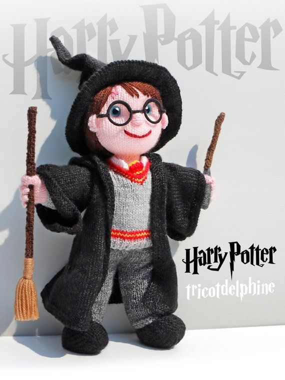 210f5d769d2 knitting pattern doll Harry Potter wizard amigurumi