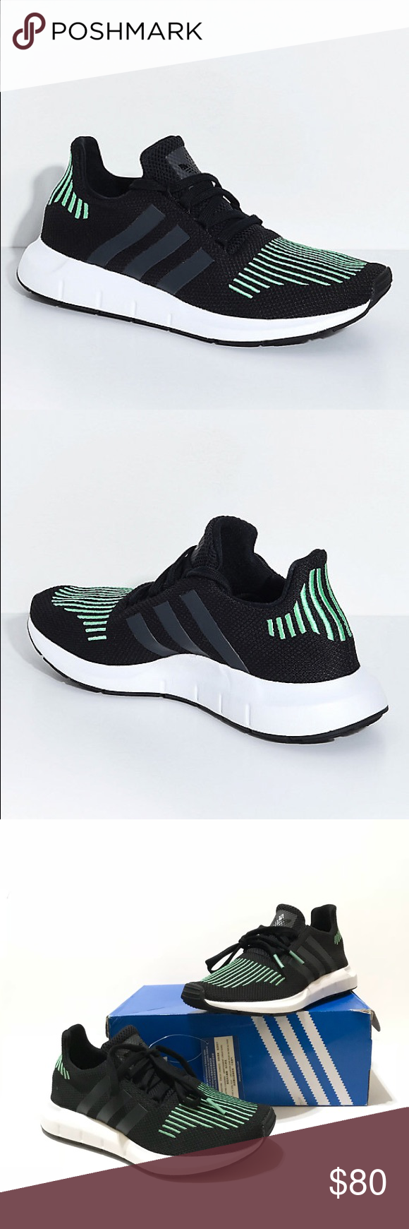 ditta adidas swift run black and white shoes nwt pinterest