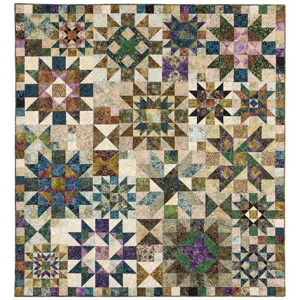 Marcus Fabrics Primo Batiks River Rock Quilt Kit 77.5 x 85 ... : quilt of the month kits - Adamdwight.com