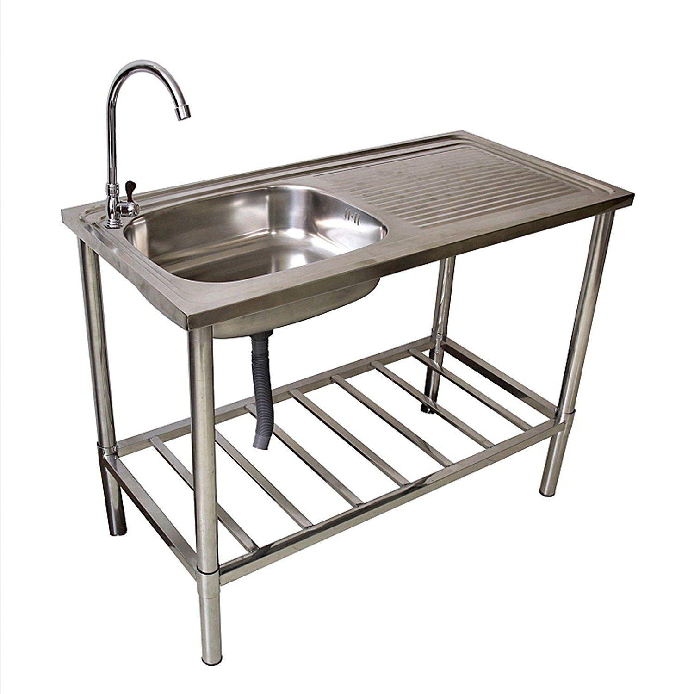 Spültisch Edelstahl Campingküche Waschtisch: Amazon.de: Elektronik