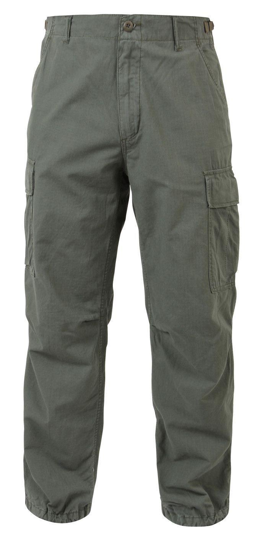 Olive Drab BDU Pants Rip-Stop