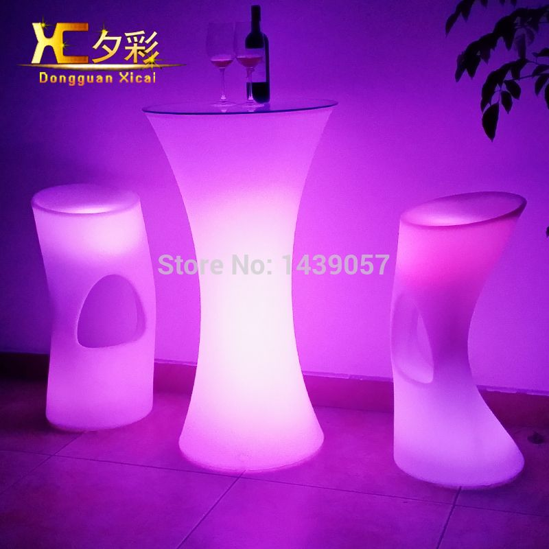 Round Led luminous bar table home furniture living room table dining ...