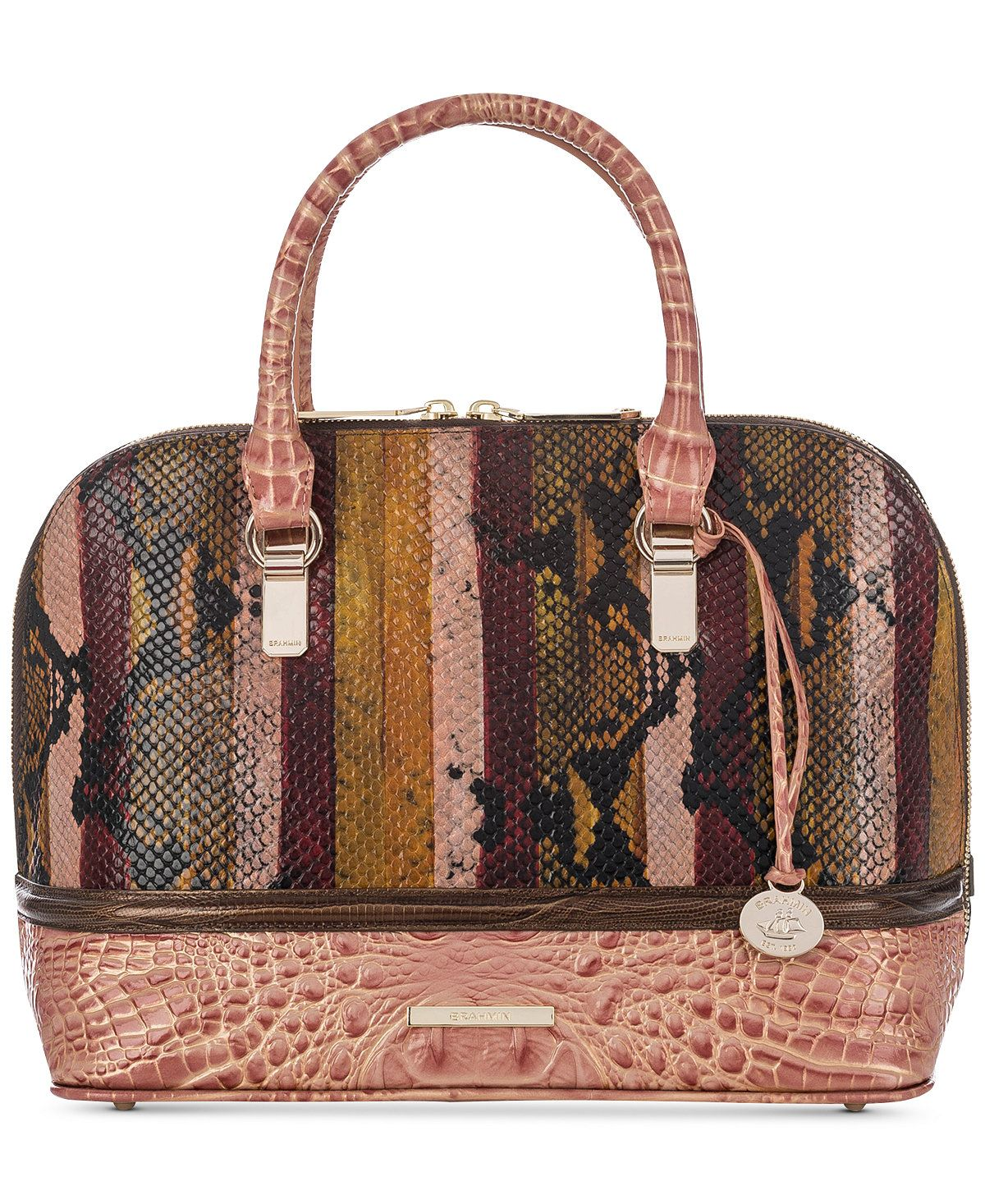 Brahmin Vivian Multi Miramar Small Satchel Handbags Accessories Macy S
