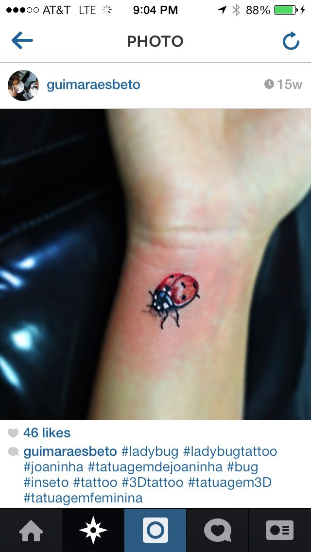 3d Ladybug Tattoo It Would Need To Be Smaller And Pink Lady