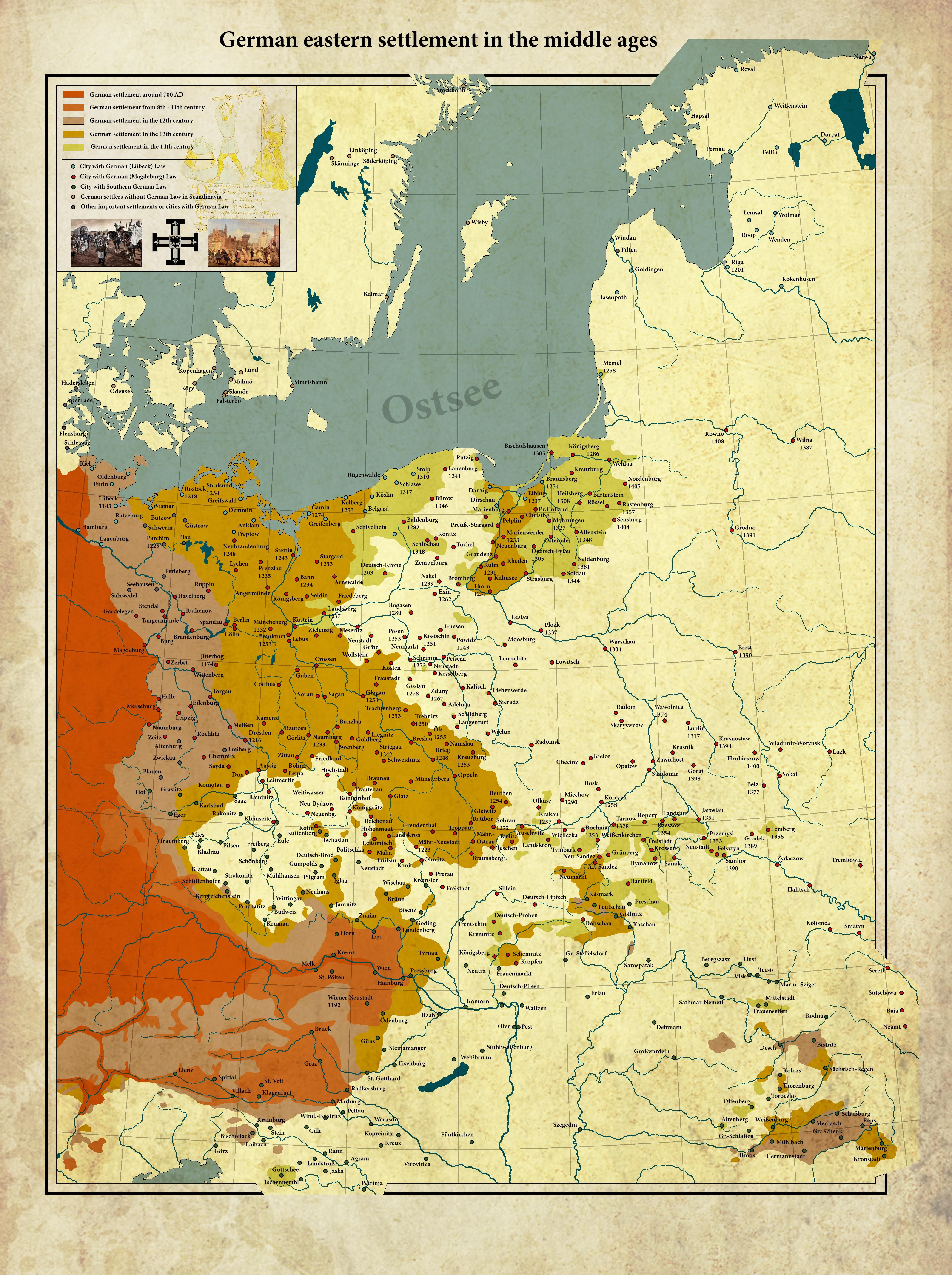 German Eastern Settlement In The Middle Ages 4142 5546 -6811