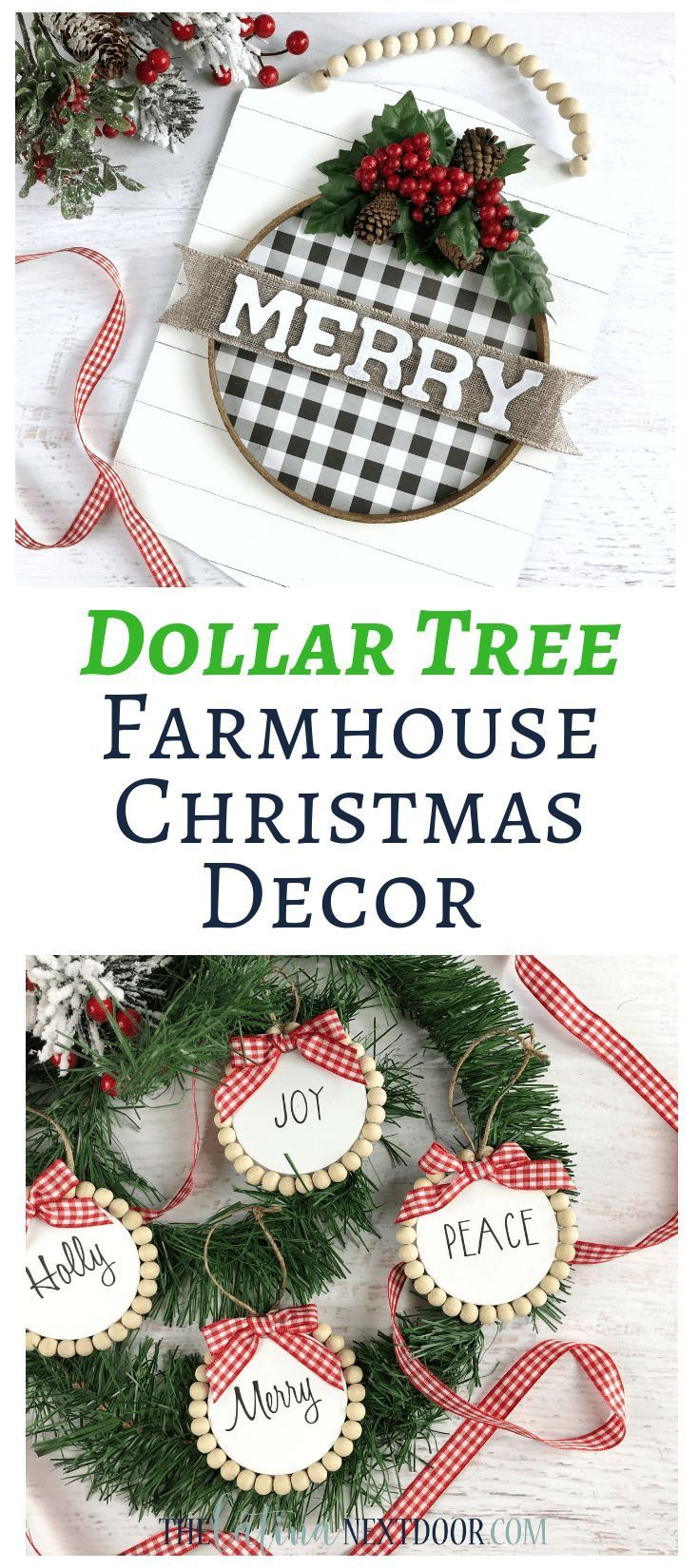 Dollar Tree Farmhouse Christmas Ornaments Farmhouse