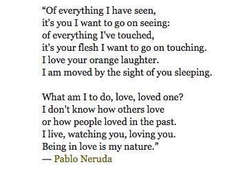 love by pablo neruda