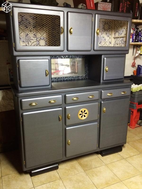 buffet vaisselier ann es 50 mod le unique old craft. Black Bedroom Furniture Sets. Home Design Ideas