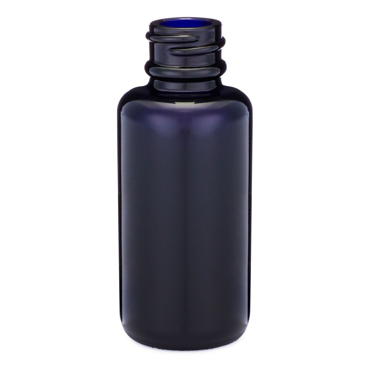 1 Oz Black Violet Glass Boston Round Bottles Bottle Glass Bottles Glass