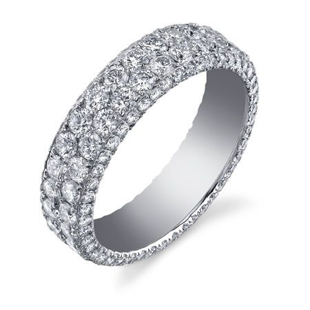 Women S Wedding Band Shown In Platinum With Micro Pave