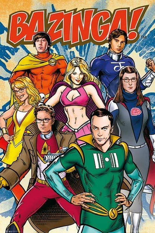 Details about Big Bang Theory : Superheroes - Maxi Poster 61cm x 91.5cm new and sealed