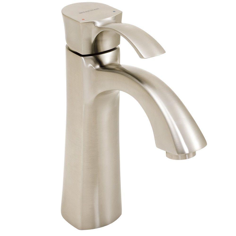 Speakman Tiber Single Lever Bathroom Faucet Brushed Nickel - Bathroom faucet outlet