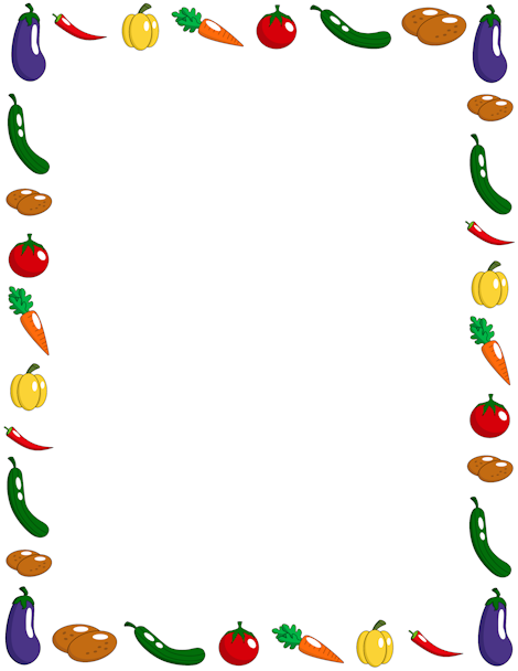 Free Vegetable Border Templates Including Printable Border Paper And Clip  Art Versions. File Formats Include GIF, JPG, PDF, And PNG.  Border Paper Template