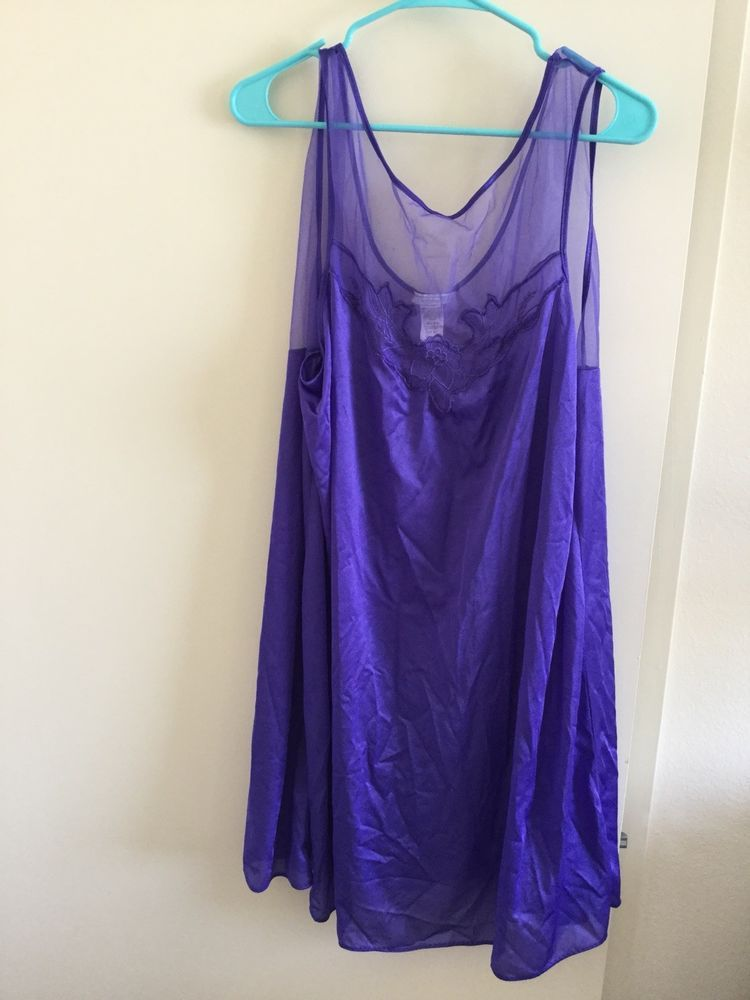245e432787f0 The Woman Within Nightgown Purple Knee Length Size B8  fashion  clothing   shoes  accessories  womensclothing  intimatessleep (ebay link)